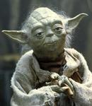 Mistrz Yoda to jeden z bohaterów sagi o gwiezdnych wojnach. Udziela nam swych mądrości, niekoniecznie w zdaniach o dobrej kolejności.