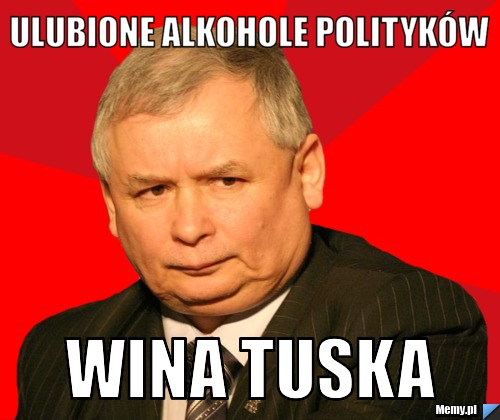 Ulubione alkohole polityków wina tuska