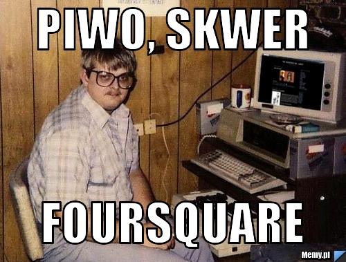 piwo, skwer foursquare
