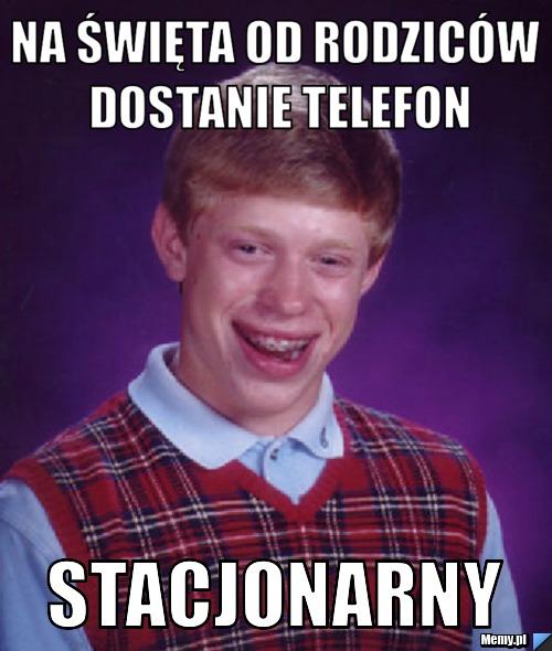 na święta od rodziców dostanie telefon stacjonarny