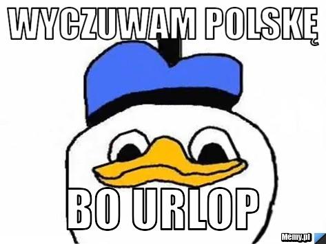 Wyczuwam polskę bo urlop