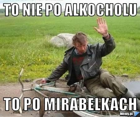 to nie po alkocholu to po mirabelkach